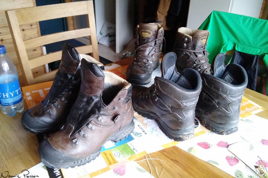 Nyvaxade skor.