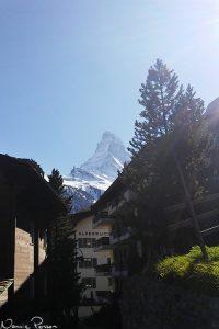 Matterhorn sett från Zermatt.