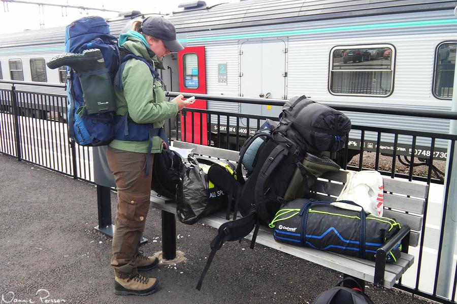 Ankomst till Kiruna.